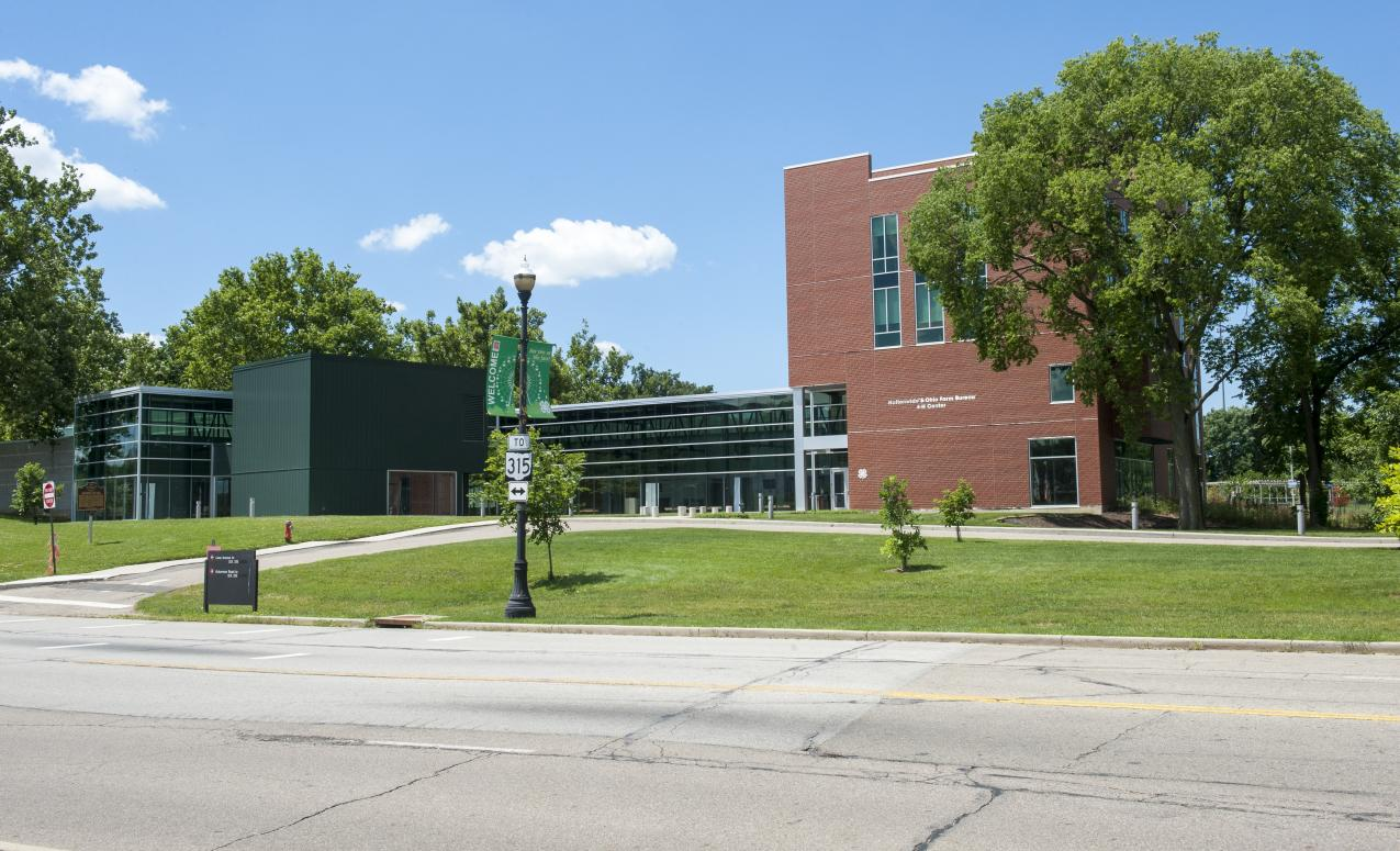Another exterior view of the 4-H Center