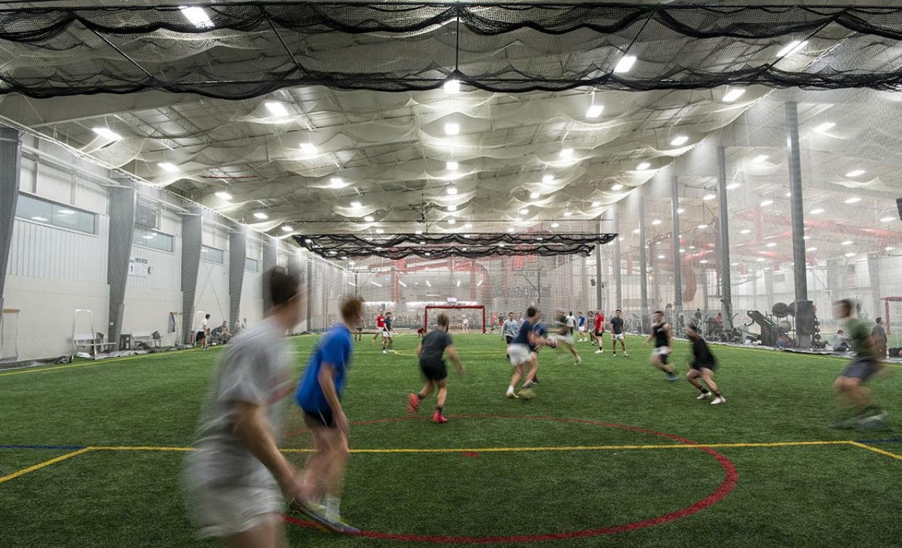 Indoor playing fields at the Adventure Recreation Center