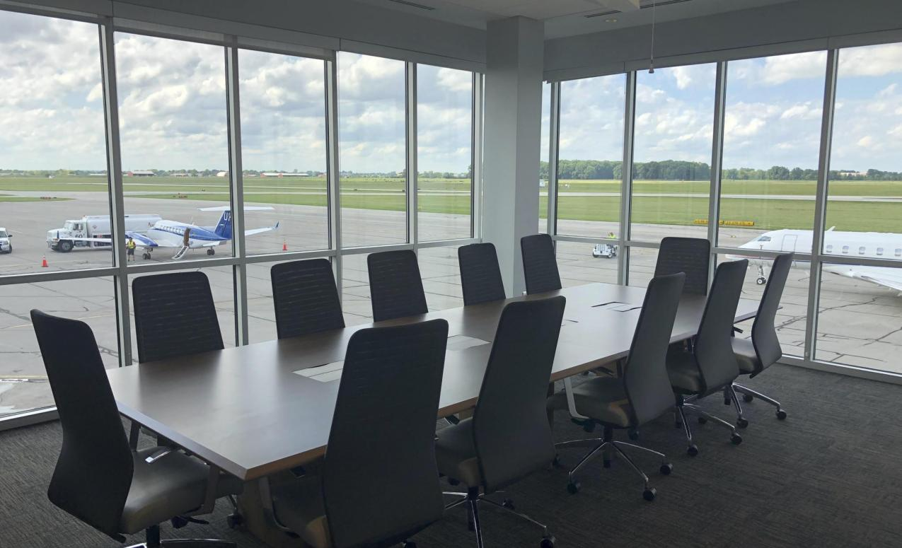 Conference room at The Ohio State University Airport