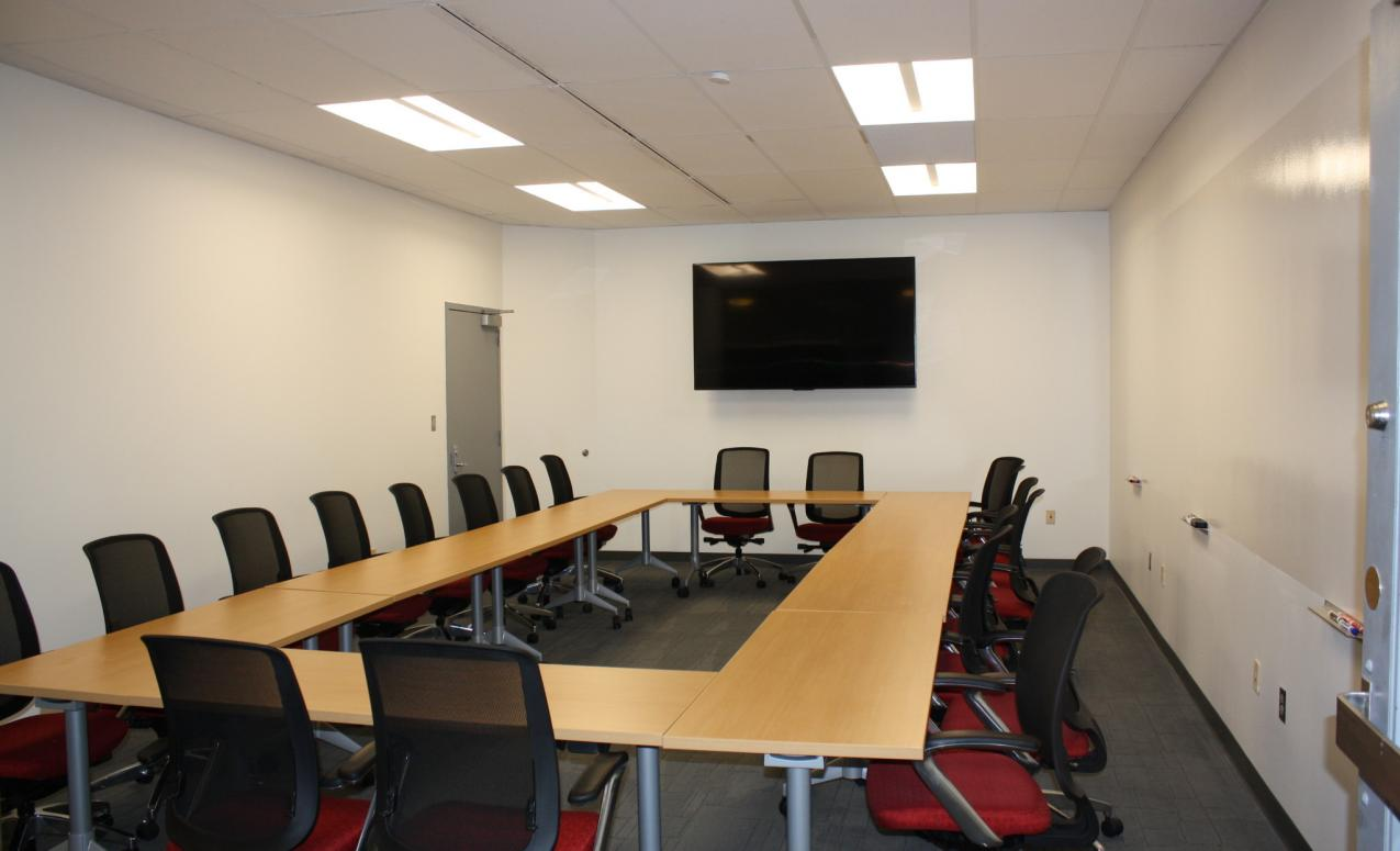 A conference room at the Drake Performing Arts Center
