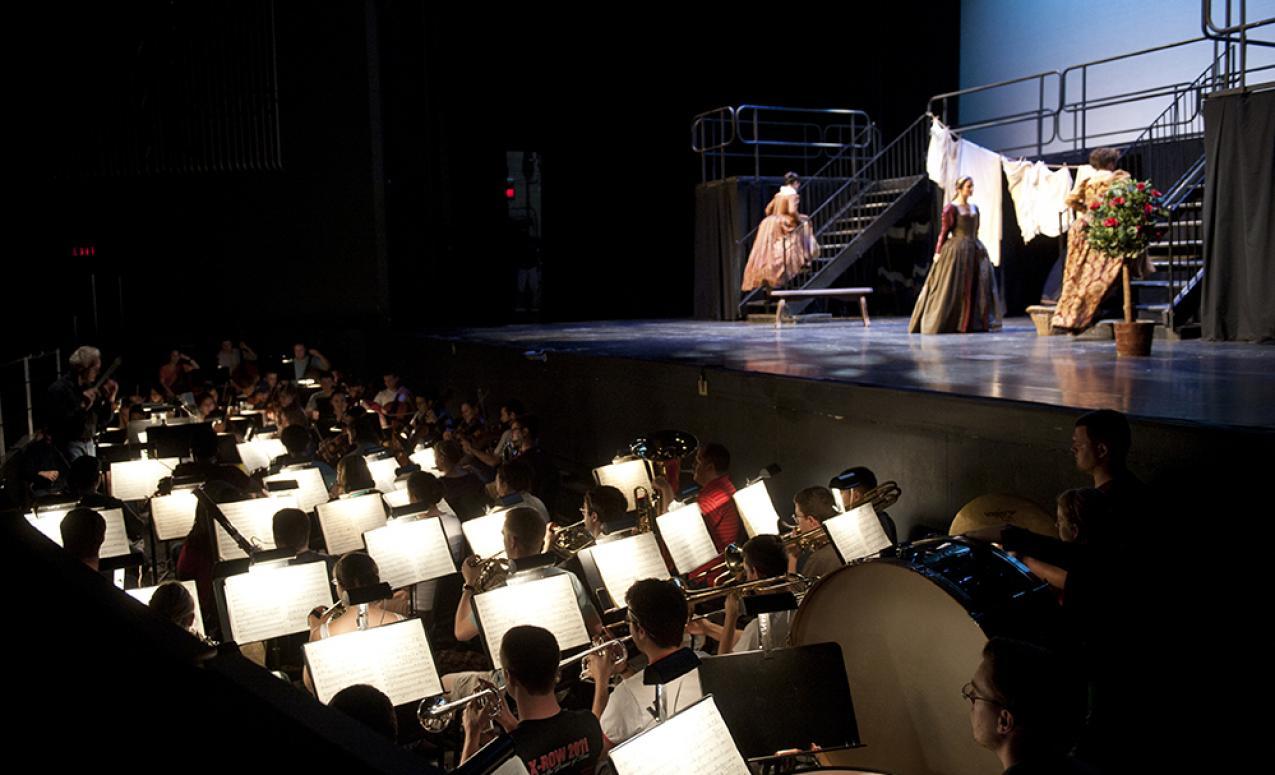 Performance taking place at Mershon Auditorium