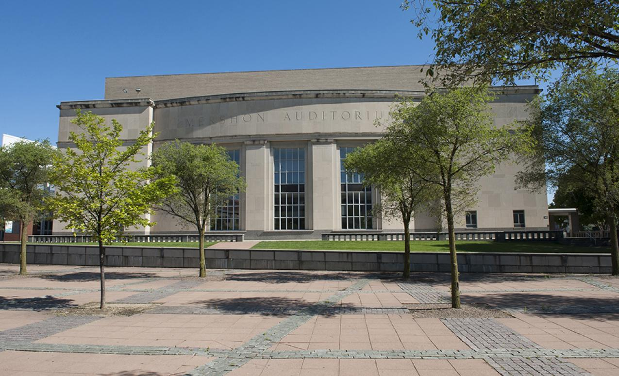 Exterior view of Wexner Center/Mershon Auditorium
