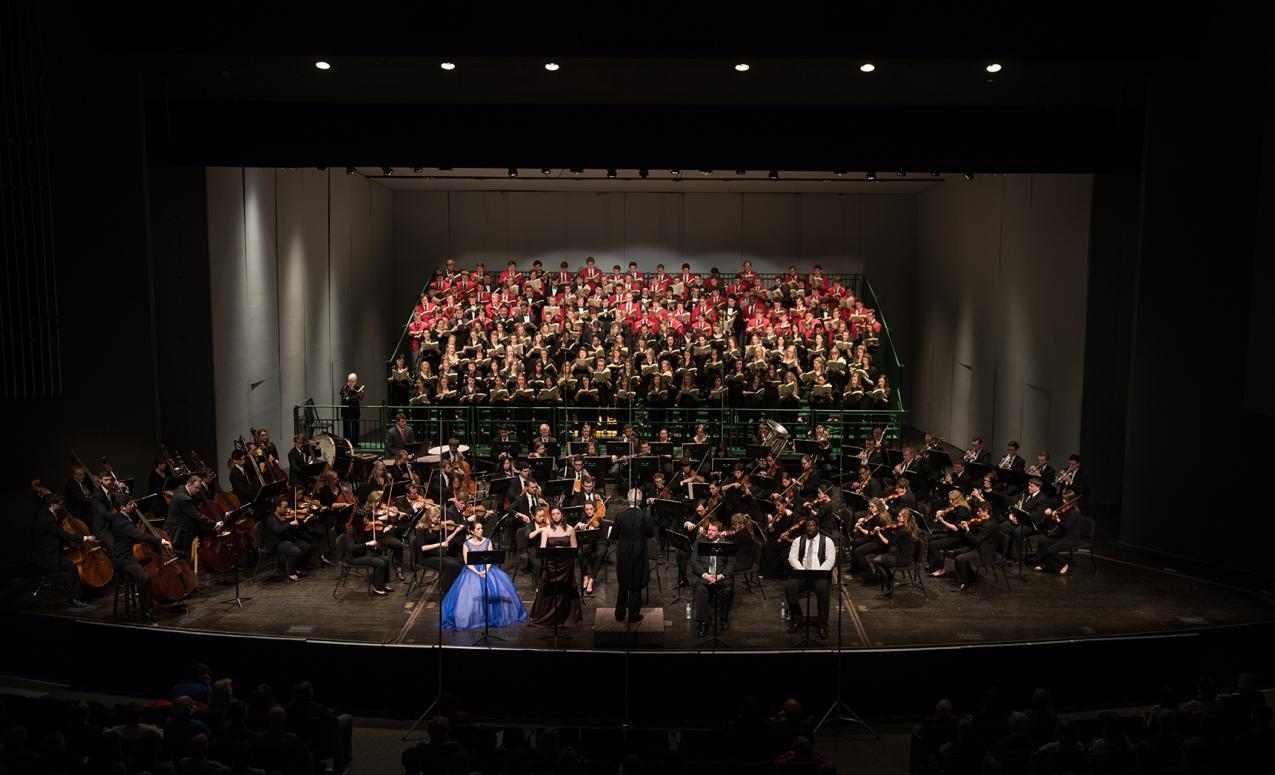 Musical performance at Mershon auditorium