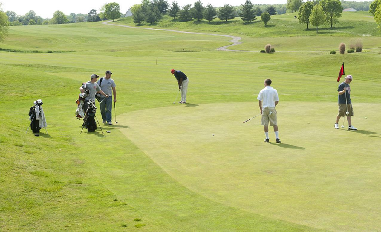 Image of golfers playing at The Ohio State University golf club