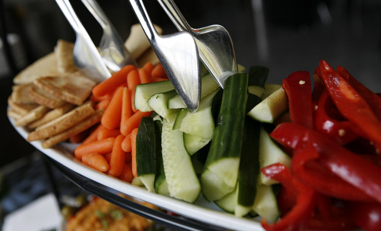 Image of vegetable appetizer provided by University catering
