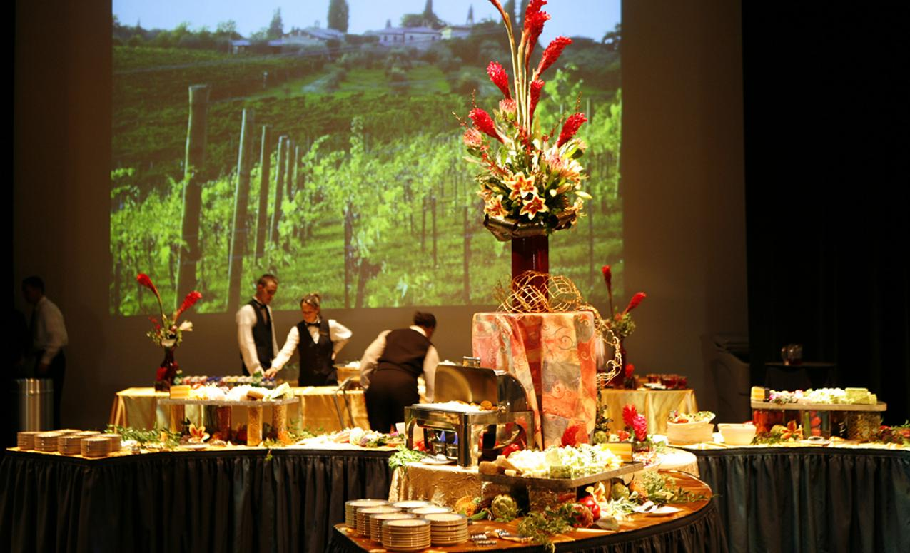 Image of event layout provided by University Catering