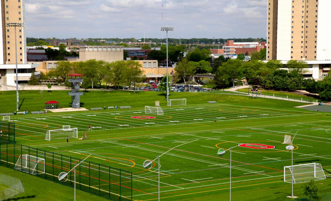 Soccer field - part of the outdoor recreation areas available at The Ohio State University