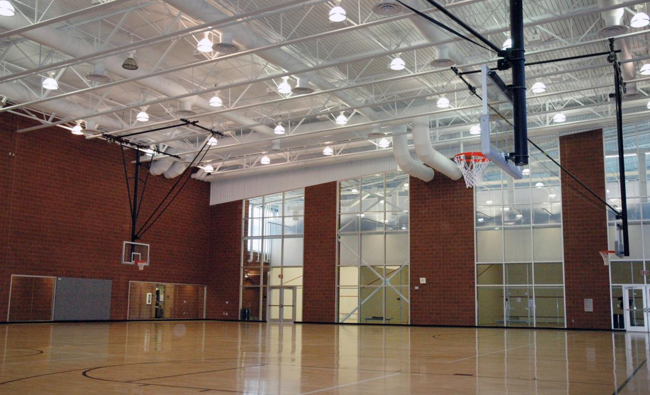 Two-floor basketball court at RPAC