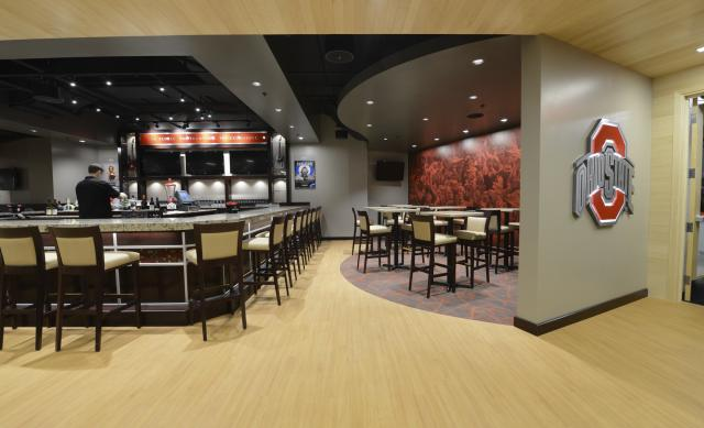 Upscale bar area at The Schottenstein Center, Value City Arena